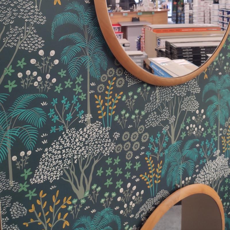 Papier peint Eden vert émeraude - JARDIN D'EDEN - Lutèce - 51203104