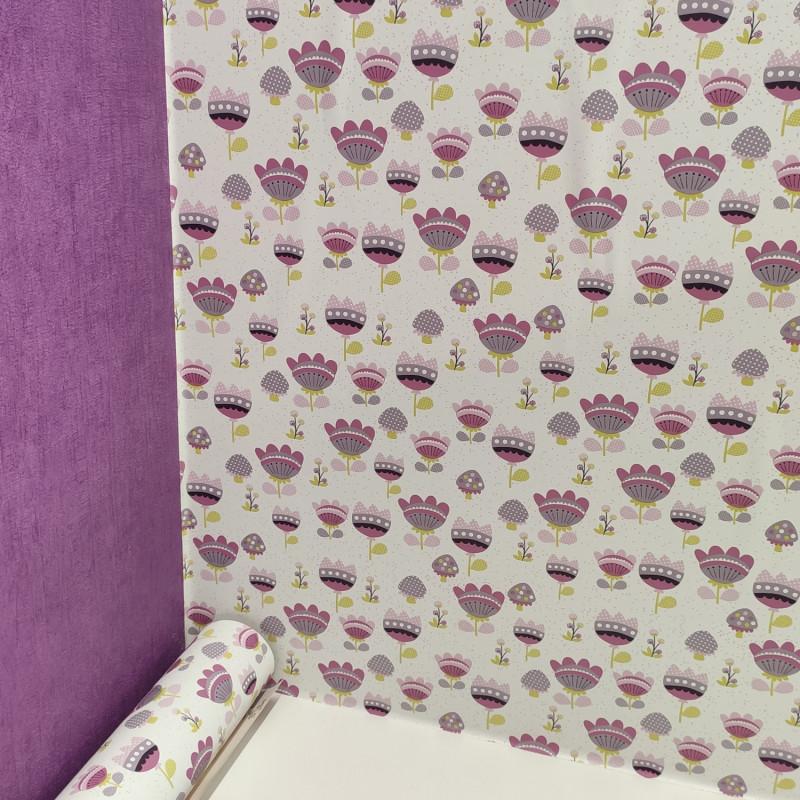 Papier peint Fleurs violettes Sélène & Gaïa - Lutèce - 36160713