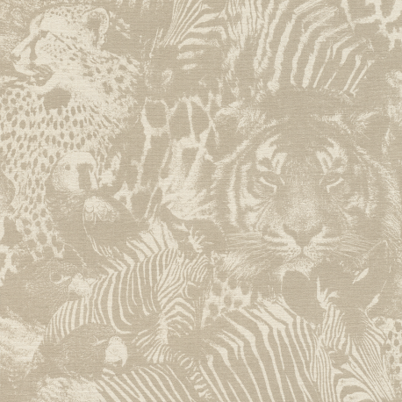 Papier peint Safari beige - KALAHARI - Rasch - 704716