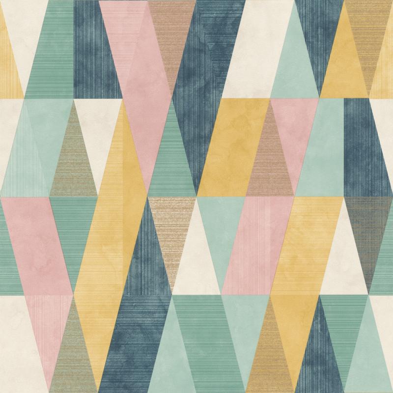 Papier peint Arlequin multicolore - Rasch - 211139