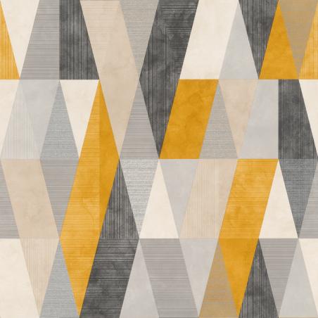 Papier peint Arlequin gris jaune - Rasch - 211146