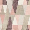 Papier peint Arlequin rose - Rasch - 211153