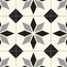 Sol PVC - Lagos 909M carreaux de ciment bleu gris - Optima Feelings BEAUFLOR - rouleau 3M