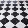 Sol PVC - Vinca 698 damier marbre noir blanc - Luxury Trends IVC - rouleau 4M