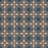 Sol PVC - Scottsdale 691M carreaux bleu/gris brillant - Optima Retro-Tex BEAUFLOR - rouleau 4M