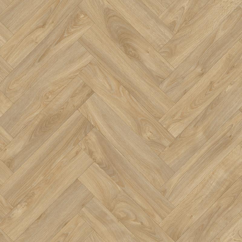 Sol PVC - Laurel Oak 126M chêne chevron naturel - Ultratex BEAUFLOR - rouleau 4M