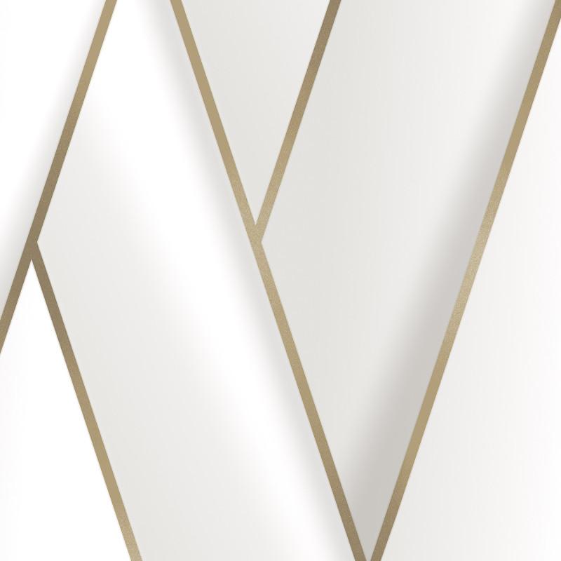 Papier peint Graphique blanc et or - ONYX - Ugepa - M348-00