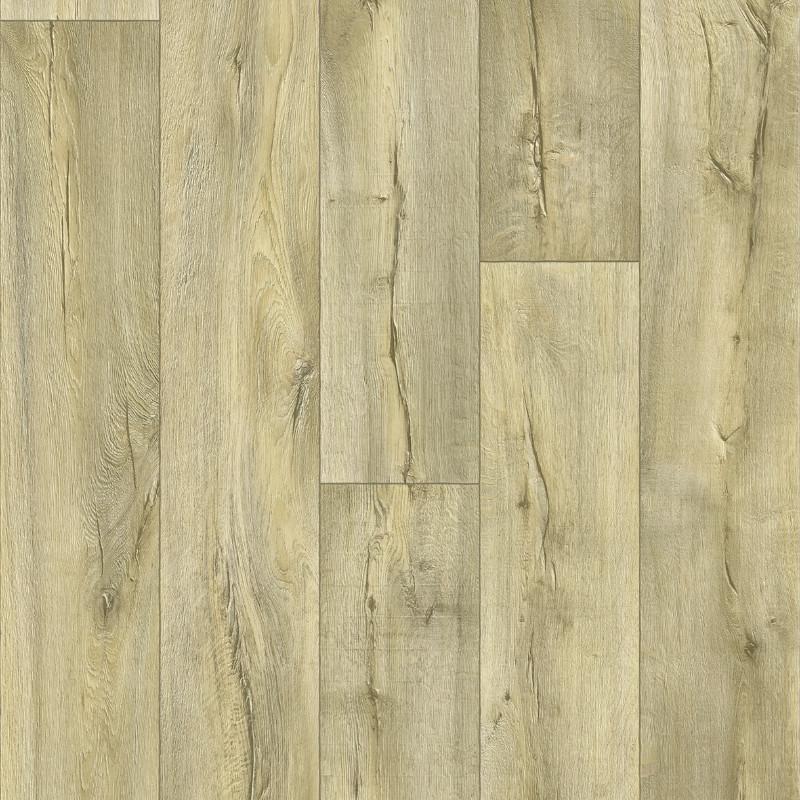 Sol PVC - Cracked 169M chêne blanchi - Bartesa BEAUFLOR - rouleau 4M