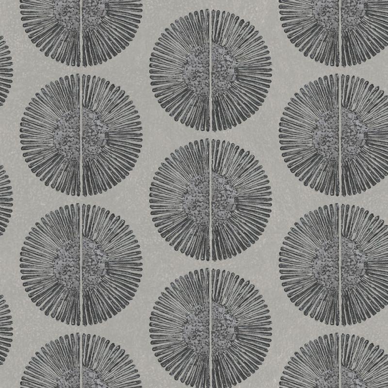 Papier peint Soleil noir et gris - BAMAKO - Lutèce - G78330