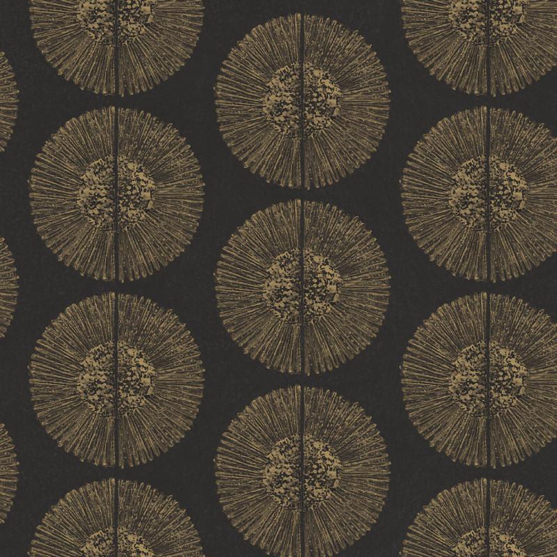 Papier peint Soleil noir et doré - BAMAKO - Lutèce - G78331