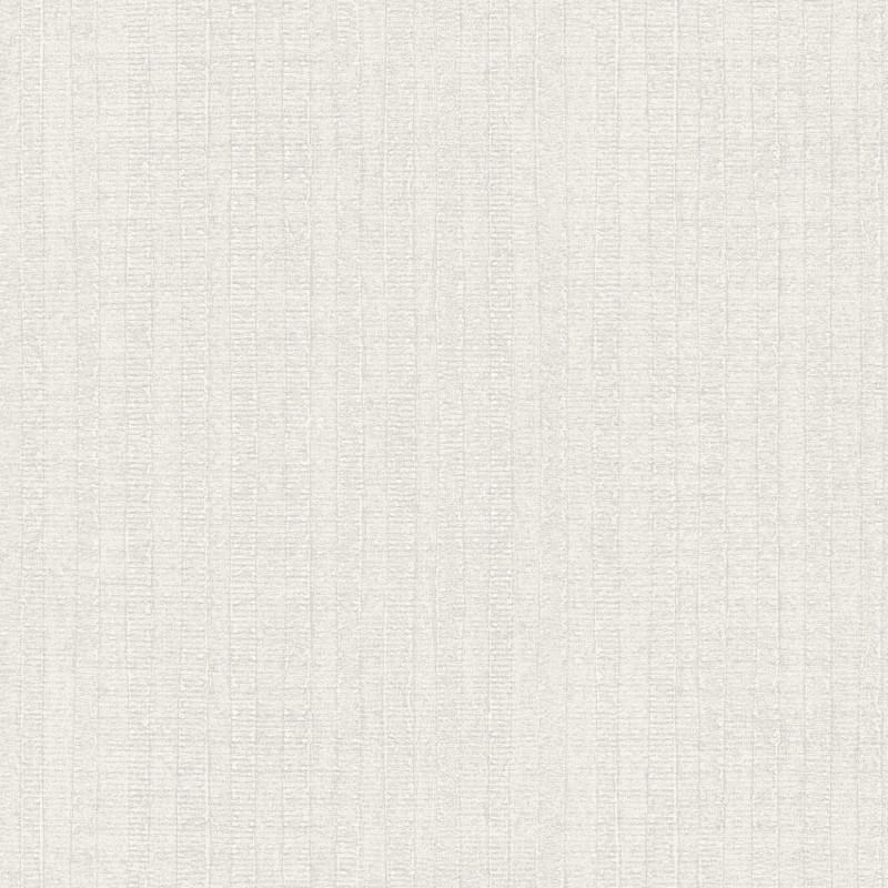 Papier peint Rayure Végétale gris clair - BAMAKO - Lutèce - G78325