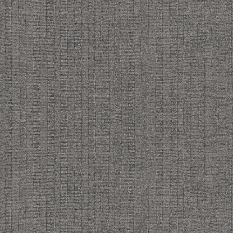 Papier peint Rayure Végétale carbonne - BAMAKO - Lutèce - G78321