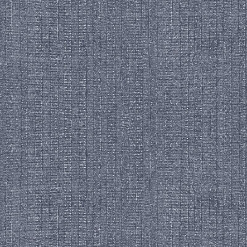 Papier peint Rayure Végétale bleu marine - BAMAKO - Lutèce - G78326