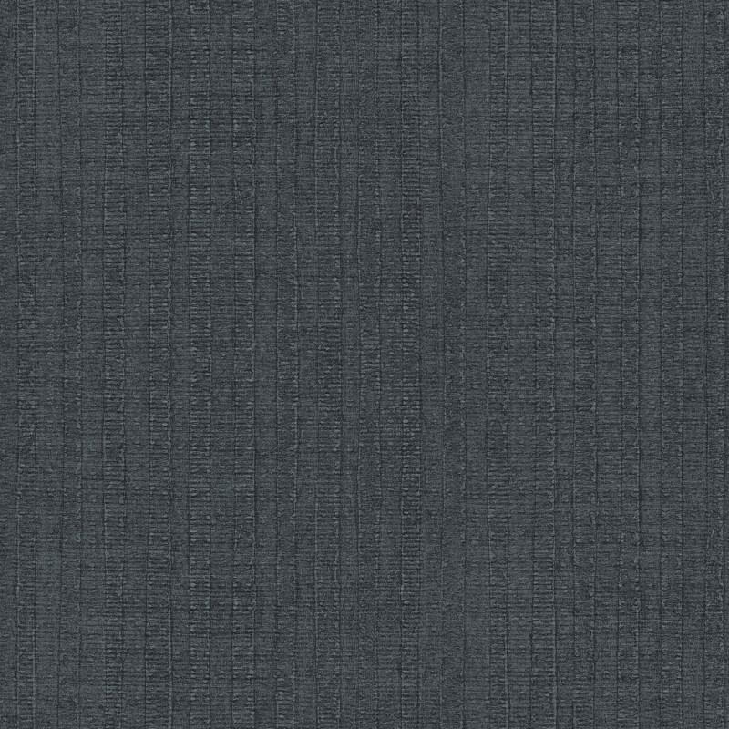 Papier peint Rayure Végétale bleu foncé - BAMAKO - Lutèce - G78323