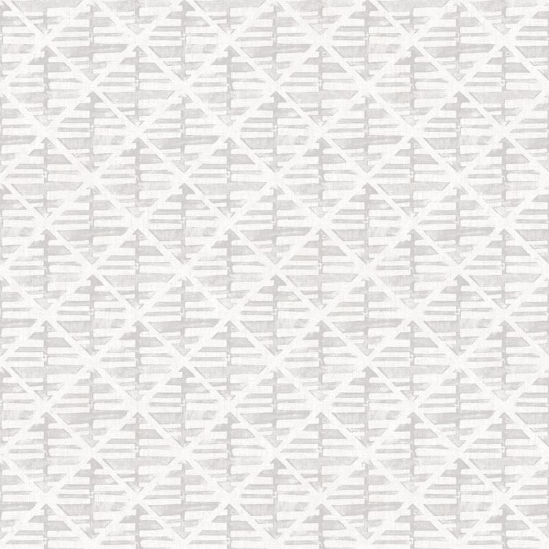 Papier peint Quadrillage gris clair - BAMAKO - Lutèce - G78291