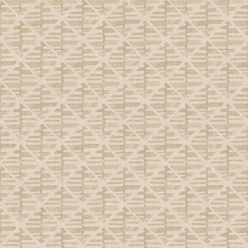 Papier peint Quadrillage beige foncé - BAMAKO - Lutèce - G78290