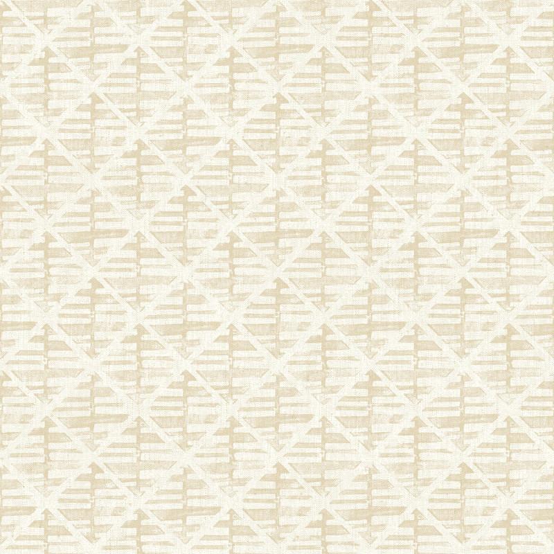 Papier peint Quadrillage beige - BAMAKO - Lutèce - G78289