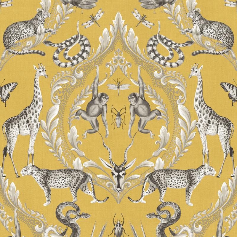 Papier peint Ménagerie jaune - BAMAKO - Lutèce - G78315