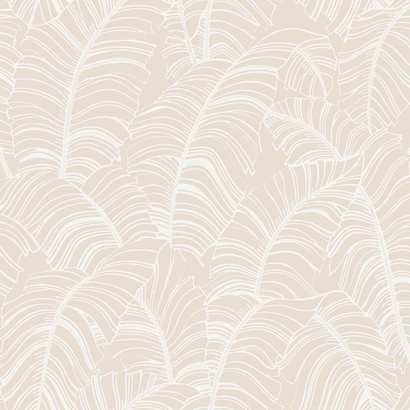 Papier peint Feuille XXL taupe - BAMAKO - Lutèce - G78300