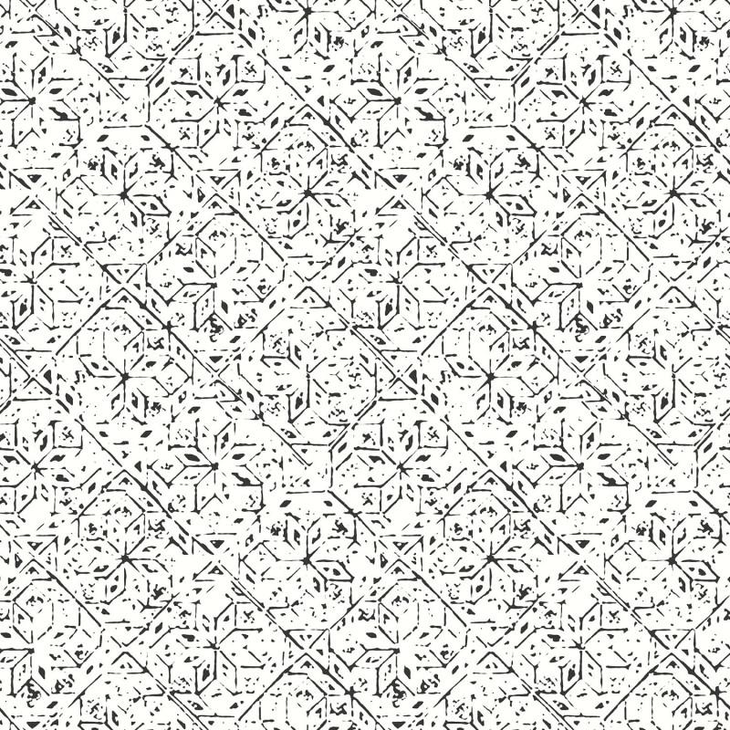Papier peint Carreau Ciment noir et blanc - BAMAKO - Lutèce - G78334