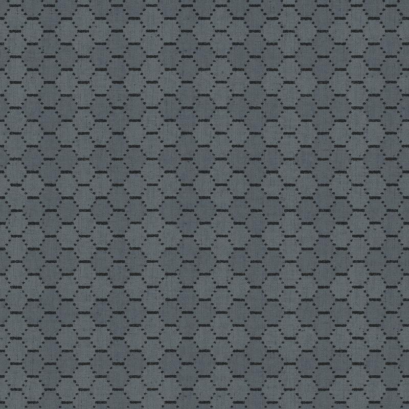 Papier peint Alvéole bleu et noir - BAMAKO - Lutèce - G78294