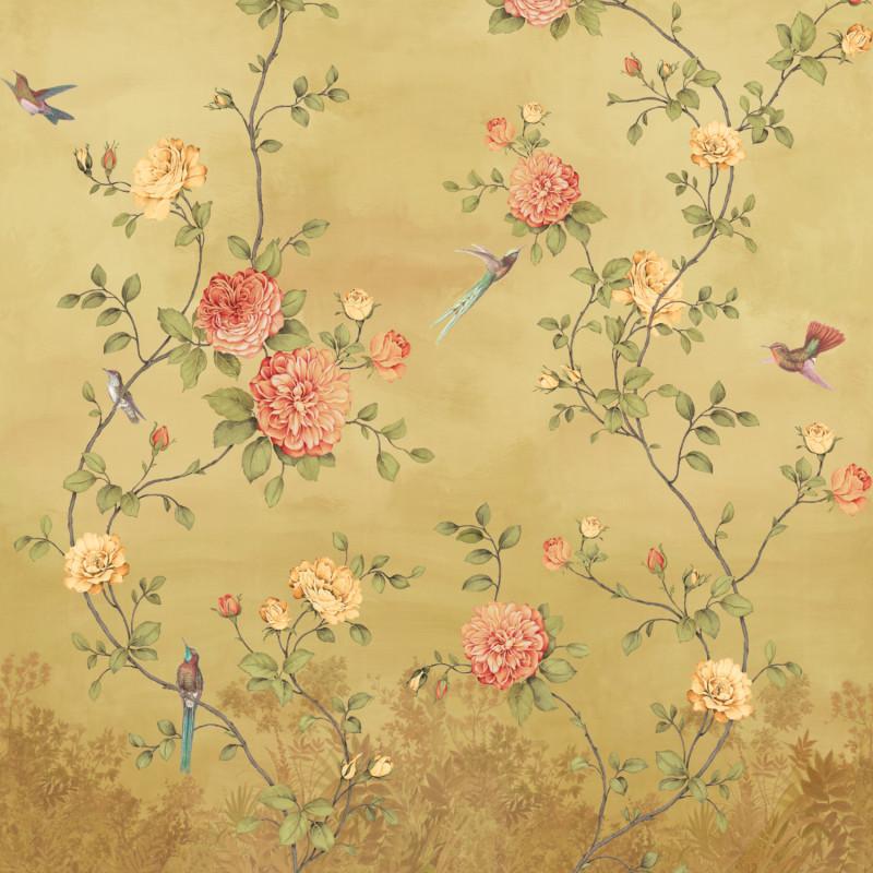 Papier peint Décor Mural Rosier ocre 4 Lés Impression Numérique - BLOOM - Lutèce - BLO455DI