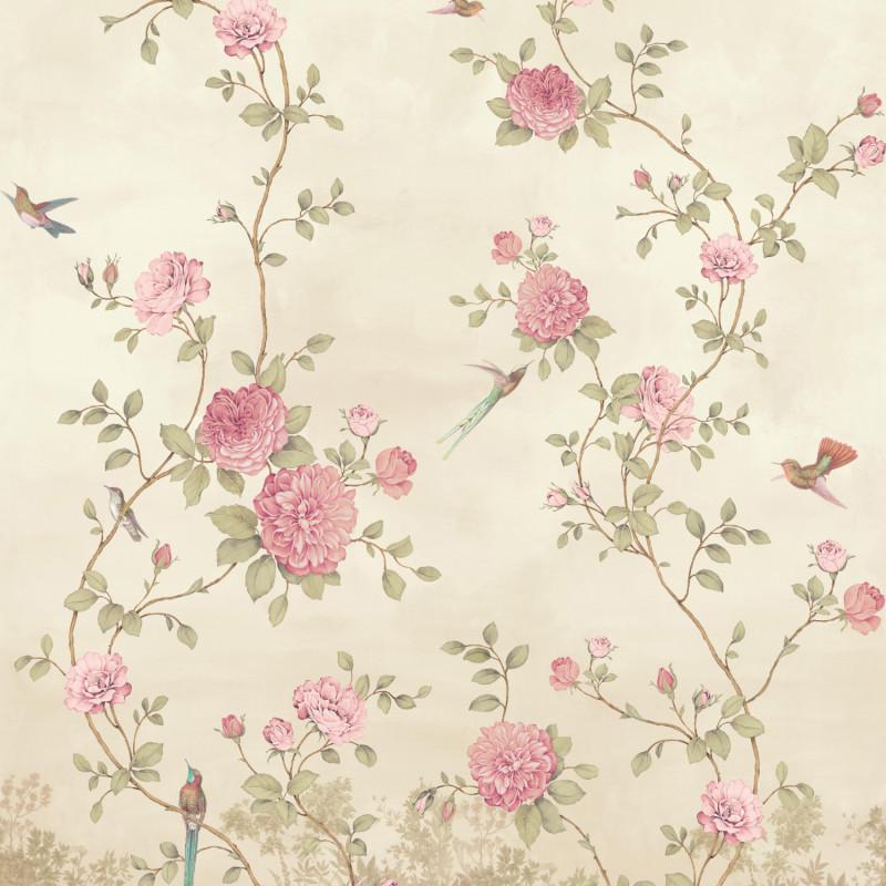 Papier peint Décor Mural Rosier beige 4 Lés Impression Numérique - BLOOM - Lutèce - BLO458DI