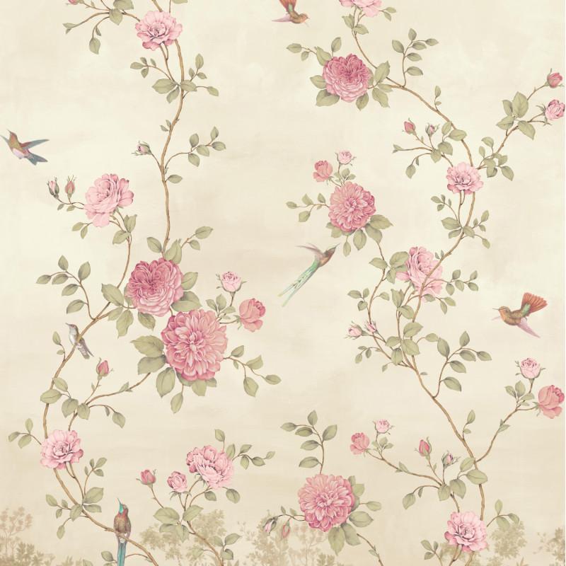 Papier peint Décor Mural Rosier beige 4 Lés - BLOOM - Lutèce - BLO458DX