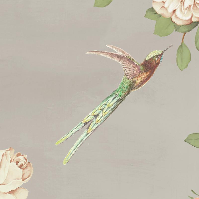 Papier peint Décor Mural Rosier taupe 4 Lés - BLOOM - Lutèce - BLO459DX