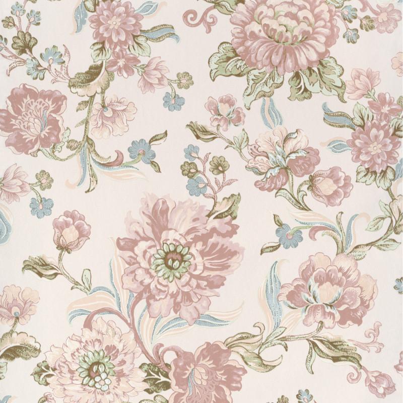 Papier peint Motif Héritage rose - BLOOM - Lutèce - BLO460