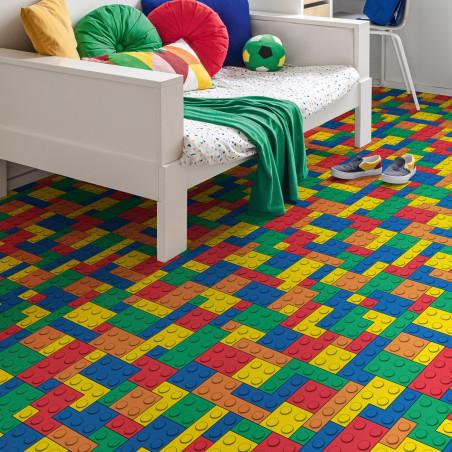 Sol PVC - Blocks T87 briques multicolores - Atento IVC - rouleau 2M