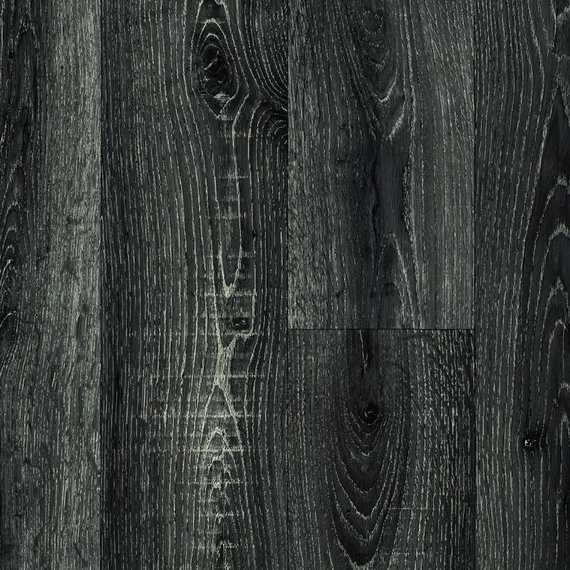 Sol PVC - Sorbonne 598 parquet bois gris anthracite- Texmark IVC - rouleau 4M