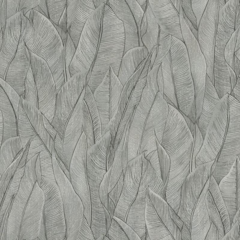 Papier peint Amazone acier - RIO MADEIRA - Casamance - 74280170