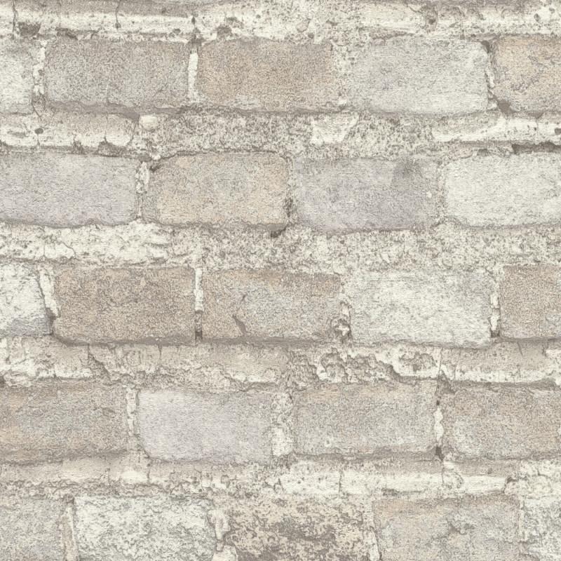 Papier peint Briques gris clair - FACTORY IV - Rasch - 428049