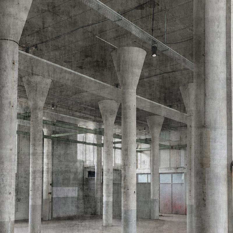 Panoramique Usine grise et blanche - FACTORY IV - Rasch - 429725