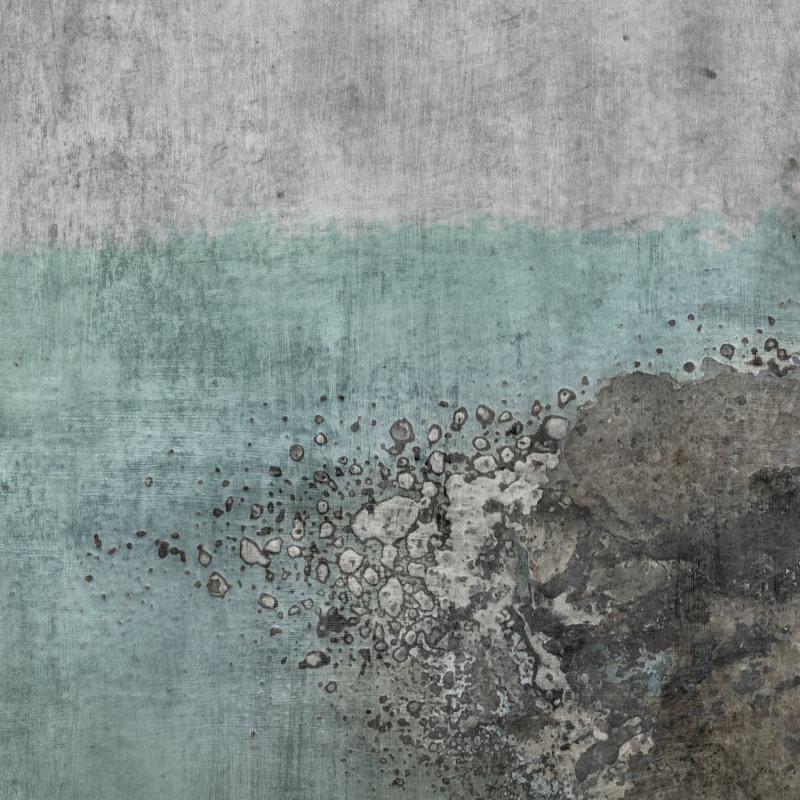 Panoramique Béton Vieilli gris et bleu clair - FACTORY IV - Rasch - 429732