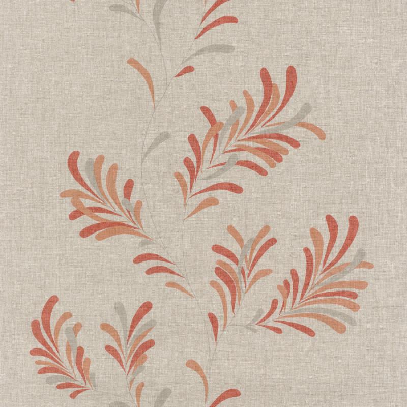Papier peint Victor corail / fond beige - FARO - Caselio - FAO69073010
