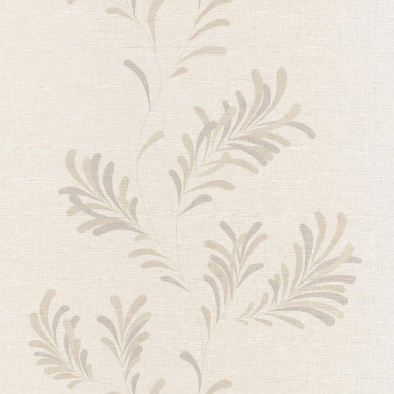 Papier peint Victor taupe gris / fond beige clair - FARO - Caselio - FAO69071115
