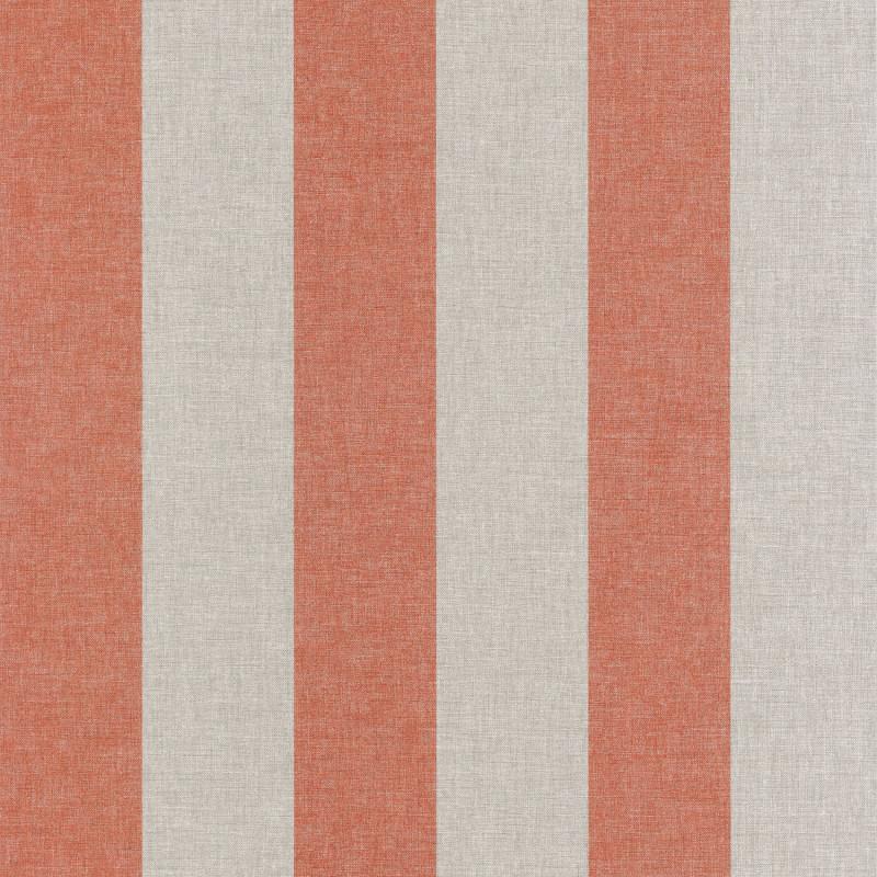 Papier peint Rayure Marquise corail / fond beige - FARO - Caselio - FAO69033019
