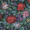 Papier peint intissé Motif Romanesque rouge, violet et vert - Lutèce 11180403