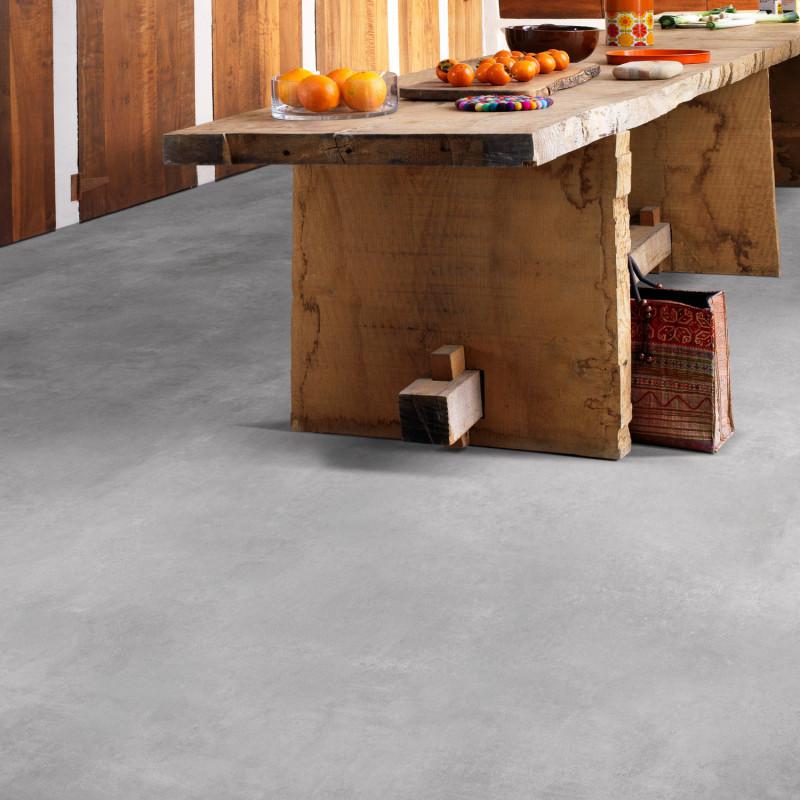 Sol PVC - Montreal 996D uni gris béton - Optima Tex-Style BEAUFLOR - rouleau 3M