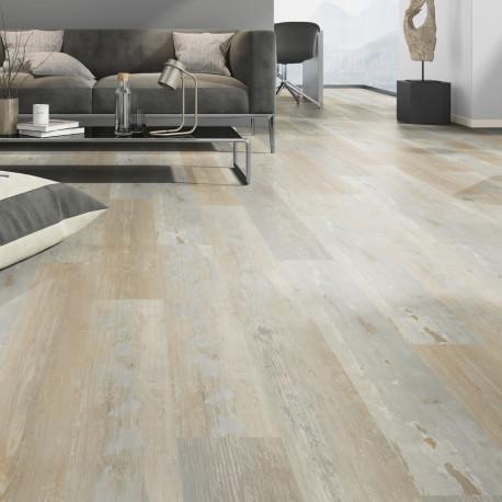 """Lame PVC clipsable """"Painted Wood Nature"""" - Solide Click 30 - OneFlor"""