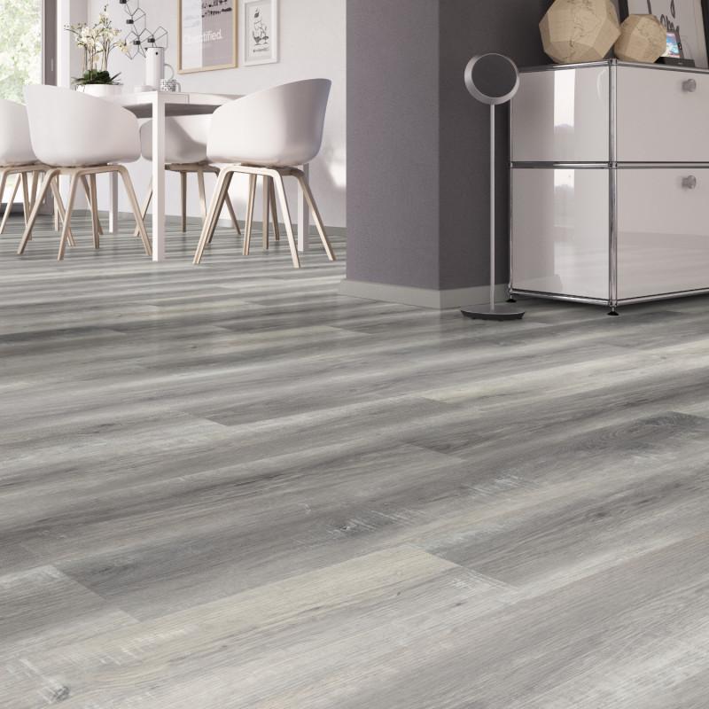 """Lame PVC clipsable """"Pure chêne gris"""" - Solide Click 30 - OneFlor"""