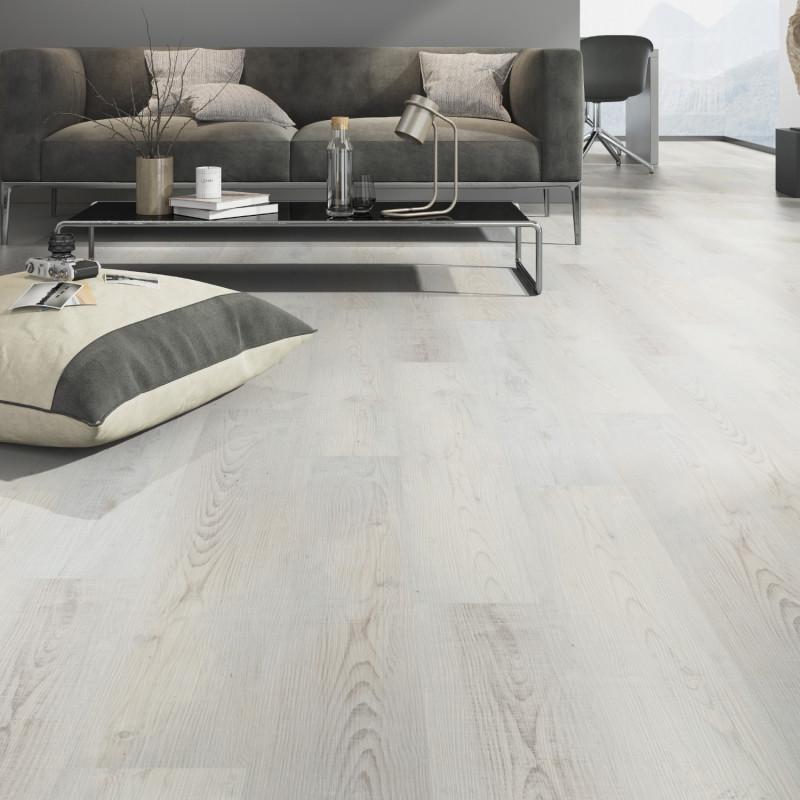 "Lame PVC clipsable ""Sea chêne blanc"" - Solide Click 30 - OneFlor"