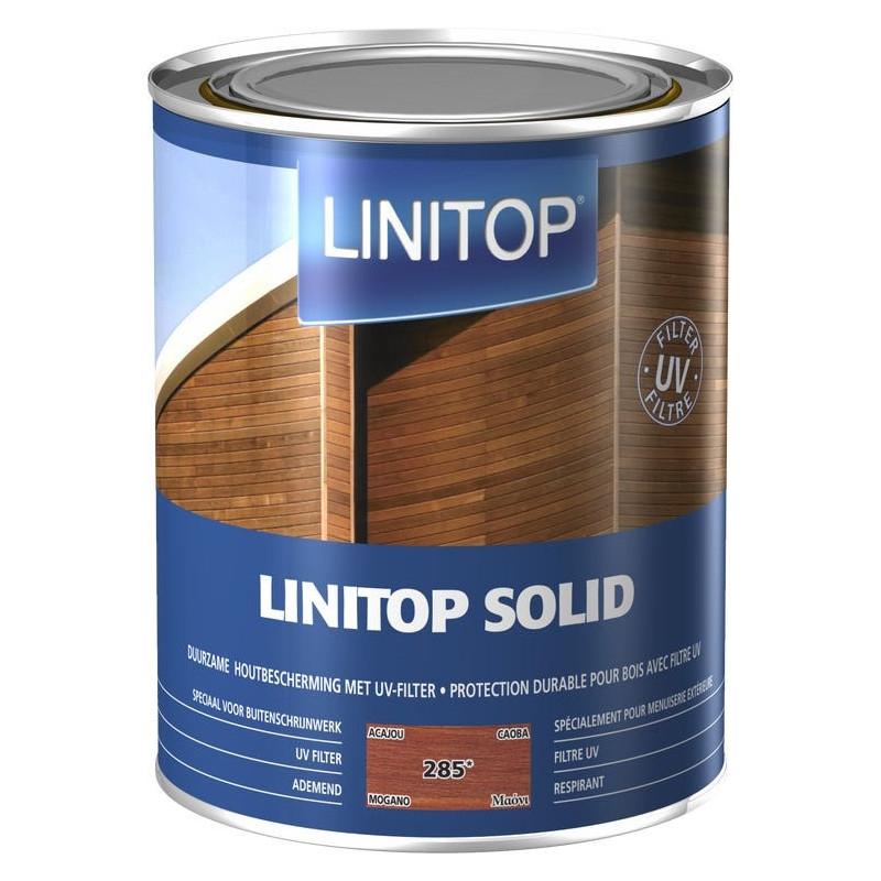LINITOP SOLID 285 acajou - Lasure de protection décorative conditions extrêmes