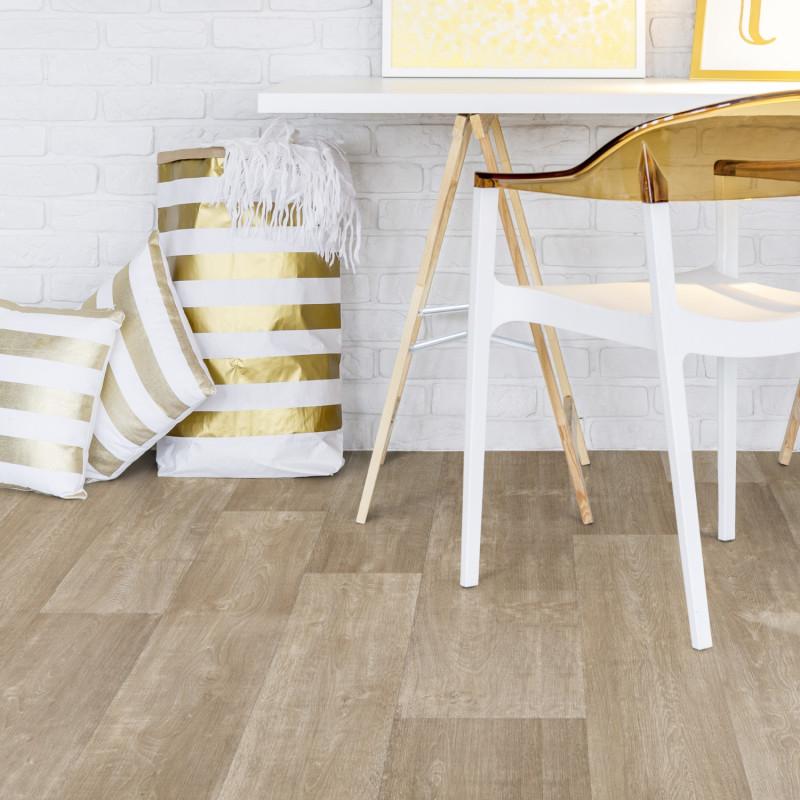 Sol PVC - Hudson Blond bois clair - Booster Gerflor - rouleau 4m