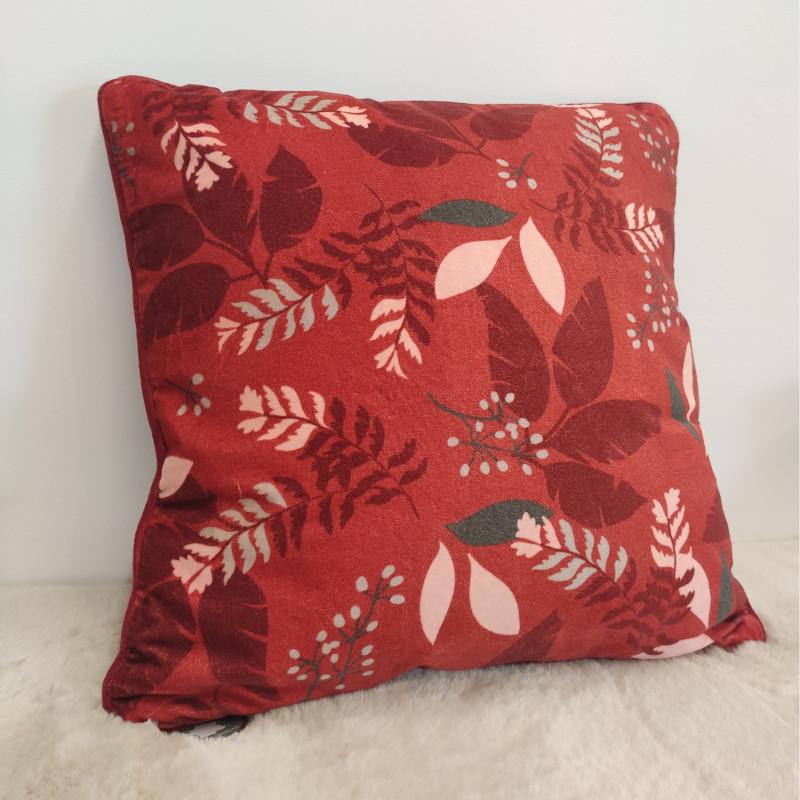 Coussin Nuit Terracotta floral - 50x50cm - Amadeus