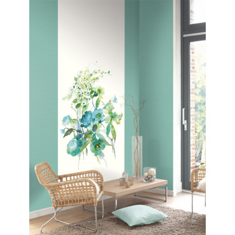 Panoramique intissé Silk Flowers - collection SPRING - Casadeco