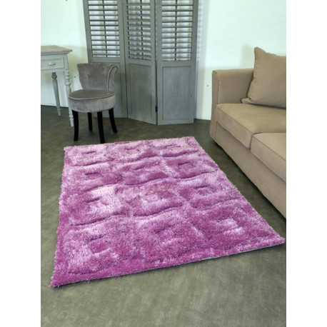 Tapis shaggy motif carré en relief ITEM 4
