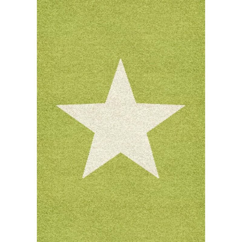 Tapis NOBLESSE COSY vert Etoile - Graphic 105 - 120x170cm.